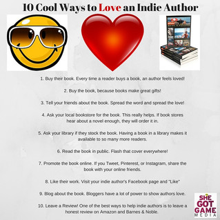 10 Cool Ways to Love an Indie Author
