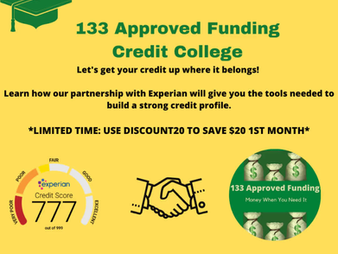 Executive Partners 133 Approved Funding and 7 Figures Funding Team Up with Experian's CreditCollege