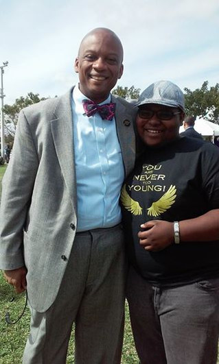 Miami Gardens Mayor Oliver Gilbert and 14-Year-Old Filmmaker Aaron Johnson
