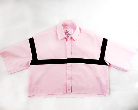 ALEK ZIRA BLUSH CROPPED SHIRT