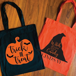 PERSONALIZED HALLOWEEN TOTE
