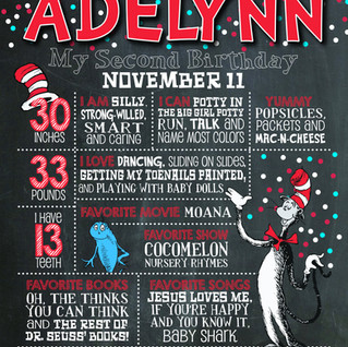 CAT IN THE HAT BIRTHDAY POSTER