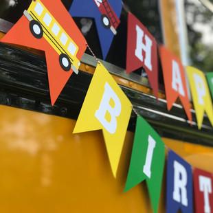 TRANSPORTATION BIRTHDAY BANNER
