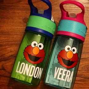 PERSONALIZED ELMO WATER BOTTLES