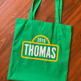 PERSONALIZED SESAME ST TOTE