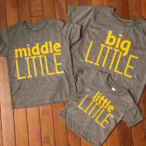 BIG, MIDDLE & LITTLE SHIRTS