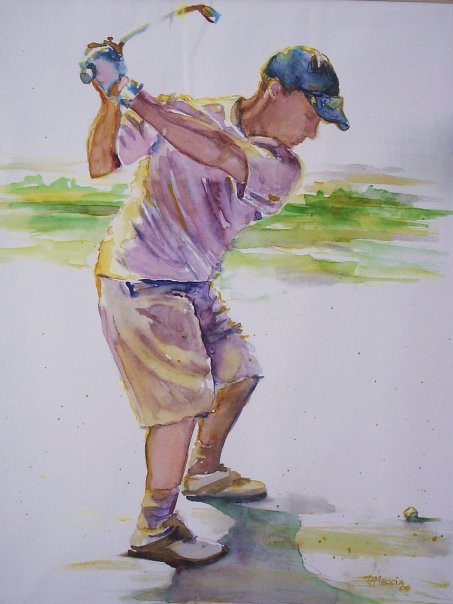 Etherial Golfer