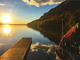 Il lago come uno specchio