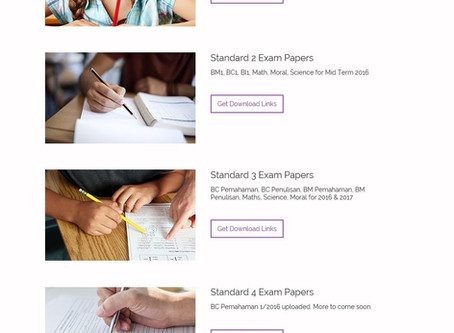 Past Year Test Papers Bank Update