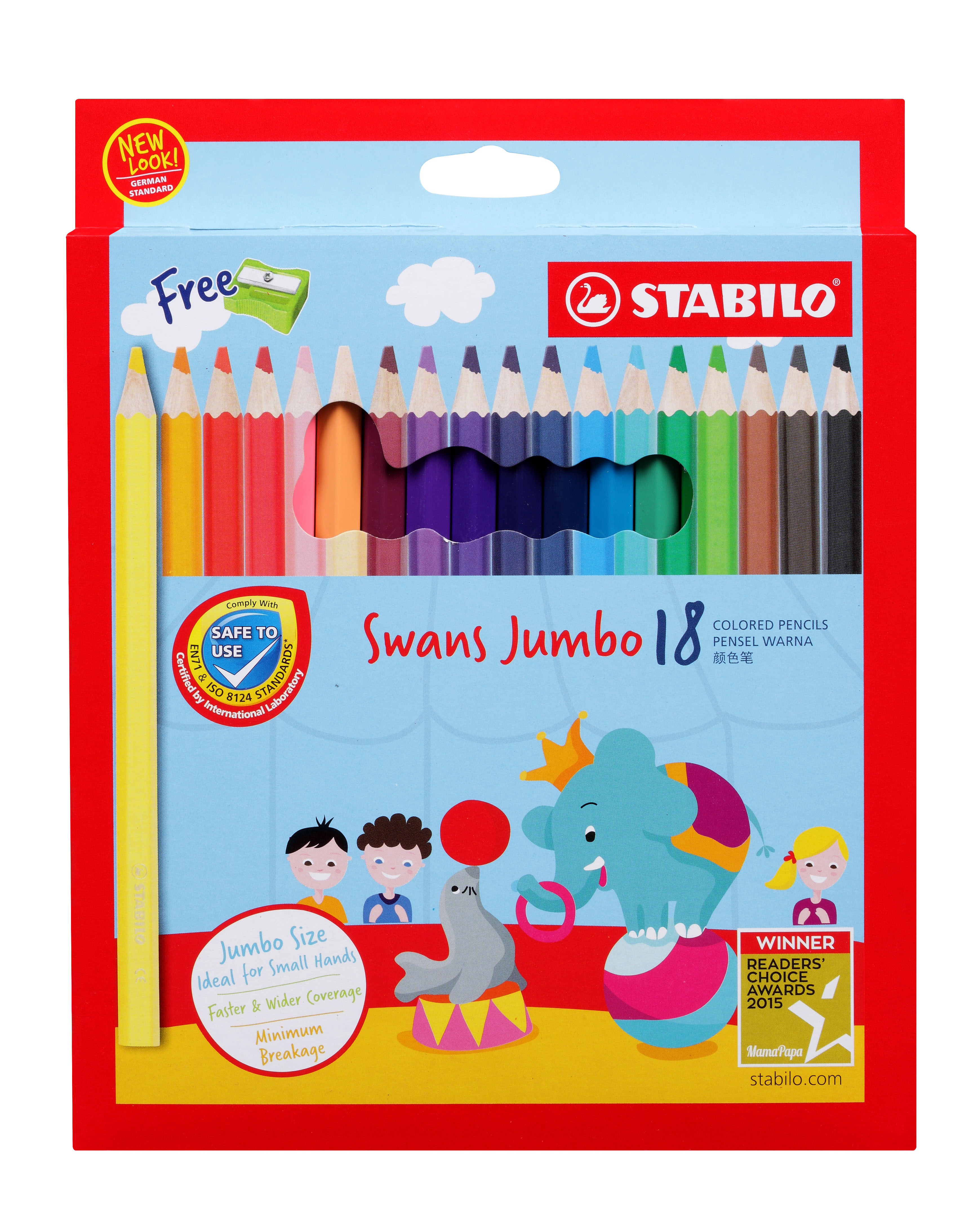 STABILO Swans Jumbo Colored Pencils