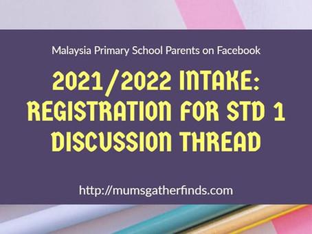 Registration for Std 1 - 2021/2022 Intake