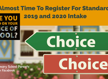 Registration For Standard One For 2019 and 2010 Intake
