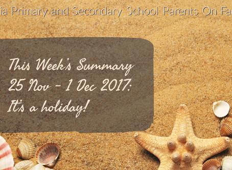 Hooray, hooray, it's a holi-holiday!