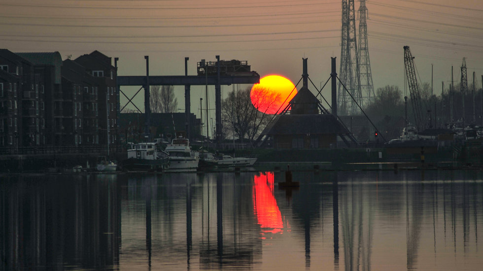 Preston Docks  Sunset