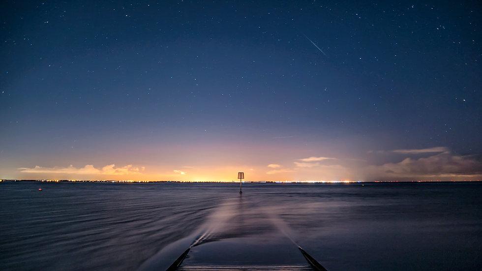 Meteor over Lytham Jetty