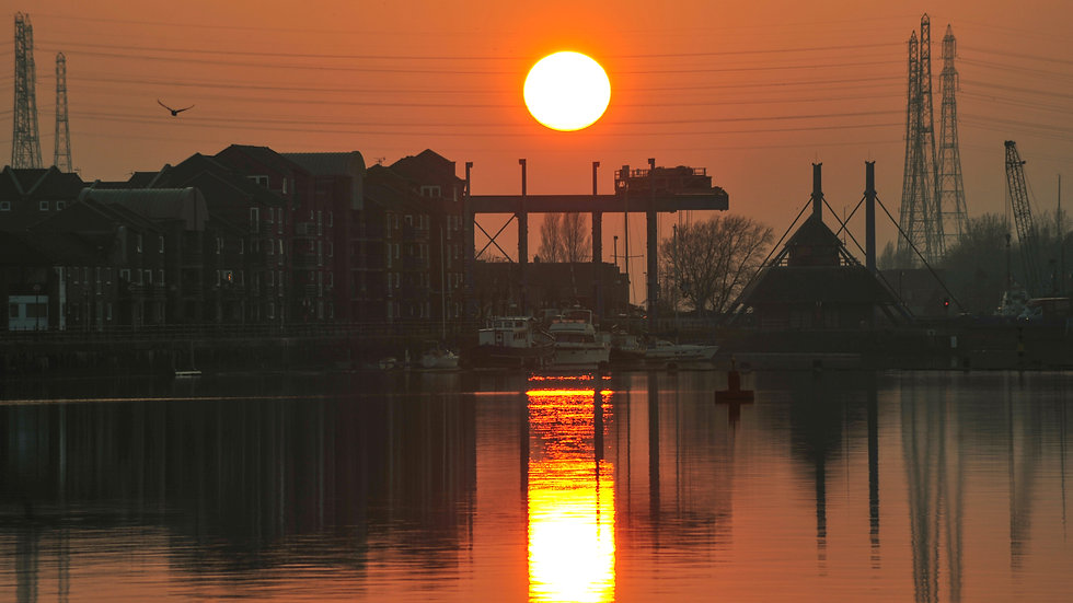 Preston Docks Orange Sunset