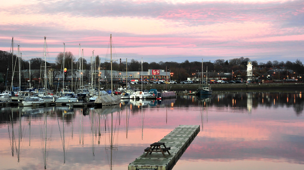 Pink Sky Picnic Docks