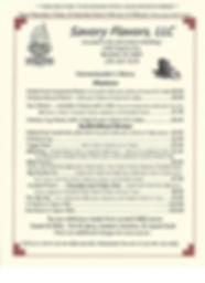 Savory Flavors, LLC Menu Bluefield VA