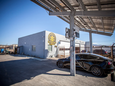 Solar Powered Subaru Shop