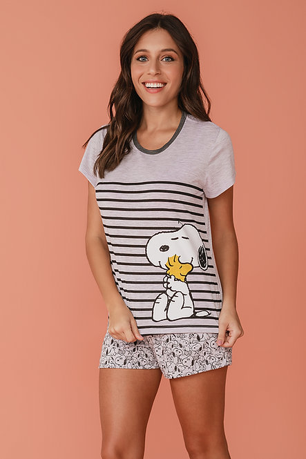 6828 Pijama Feminino T-shirt