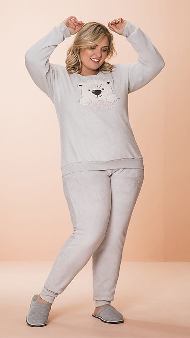 8614 Pijama Feminino Plush