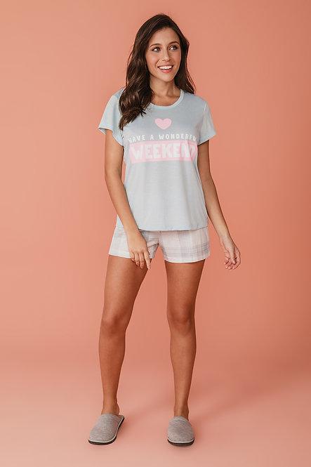 6760 Pijama Feminino T-shirt