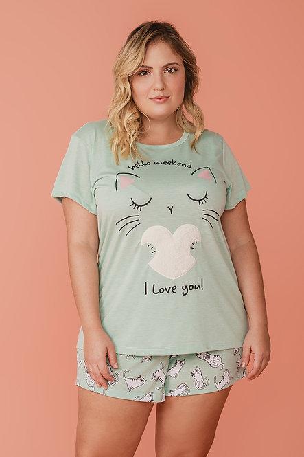 6765 Pijama Feminino T-shirt