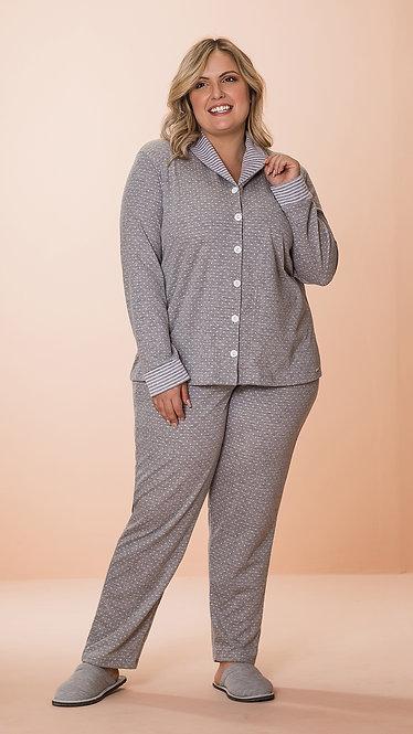 8606 Pijama Feminino Dupla Face Aberto