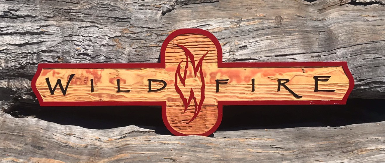 sand blasted sign