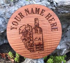 Round Redwood Wine Coaster