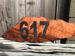 Redwood Live Edge Address Sign