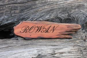Laser Engraved Redwood Sign