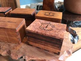 Redwood Burl Boxes