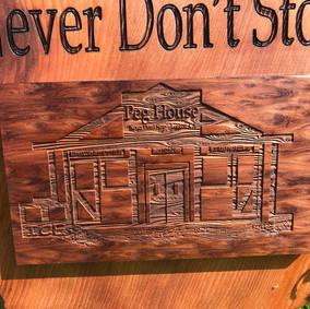 Redwood Engraved Sign