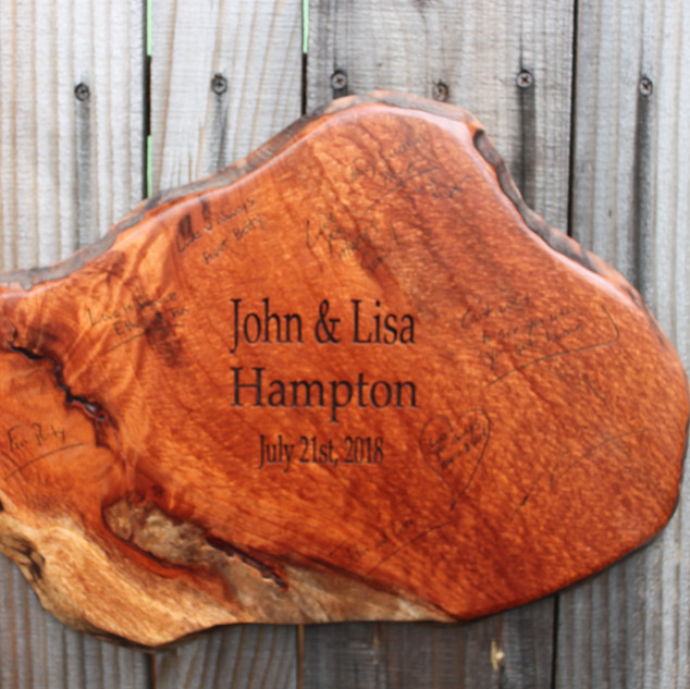 Redwood Live Edge Guestbook