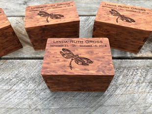 Redwood Burl Cremation Box