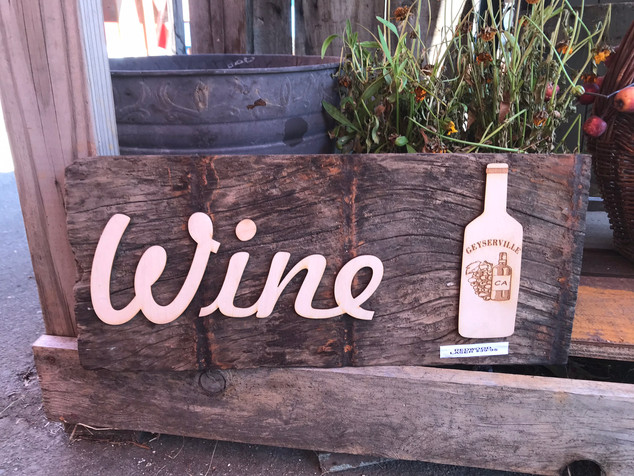 Personalized Redwood Wine Sign