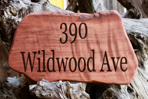 Redwood Address Sign