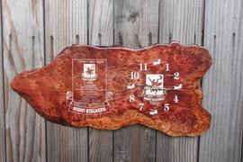 Redwood Burl Clock