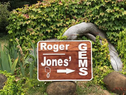 Sandblasted Redwood Sign
