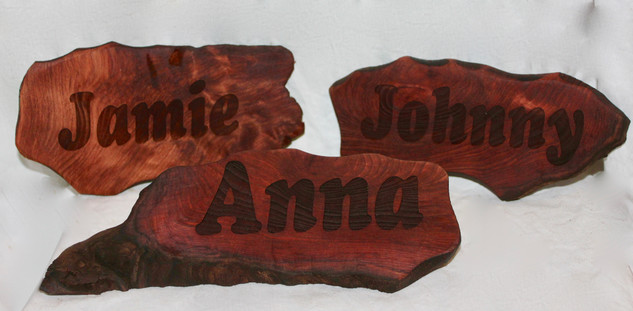 Redwood Name Plates