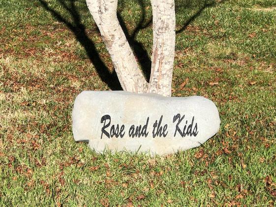 Engraved Memorial Rock
