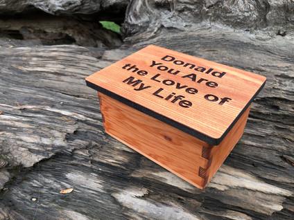Redwood Finger Joint Box