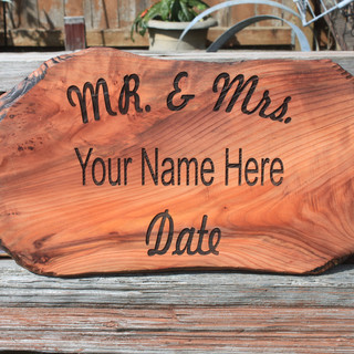 Redwood Live Edge Wedding Sign