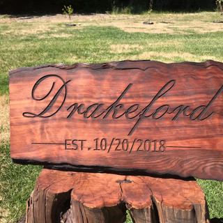Personalized Redwood Sign