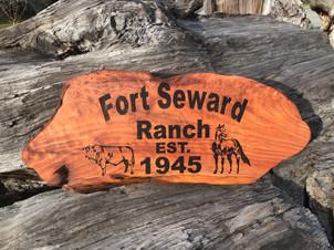 Engraved Redwood Sign