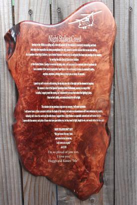 Redwood Burl Plaque
