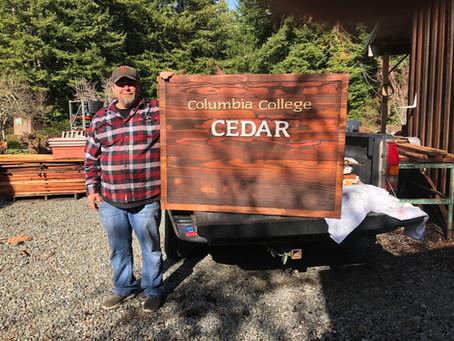 Sandblasted Redwood Signs