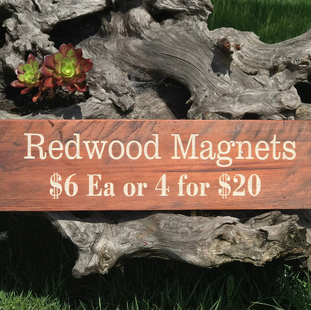 Redwood Rustic Sign