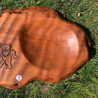Carved, Redwood Serving Bowl